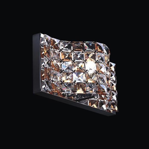 Купить Настенный светильник Horizon с плафоном из хрустальных камней янтарного и прозрачного цвета, inmyroom