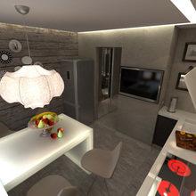 Фотография: Кухня и столовая в стиле Кантри, Современный, Малогабаритная квартира, Квартира, Дома и квартиры – фото на InMyRoom.ru