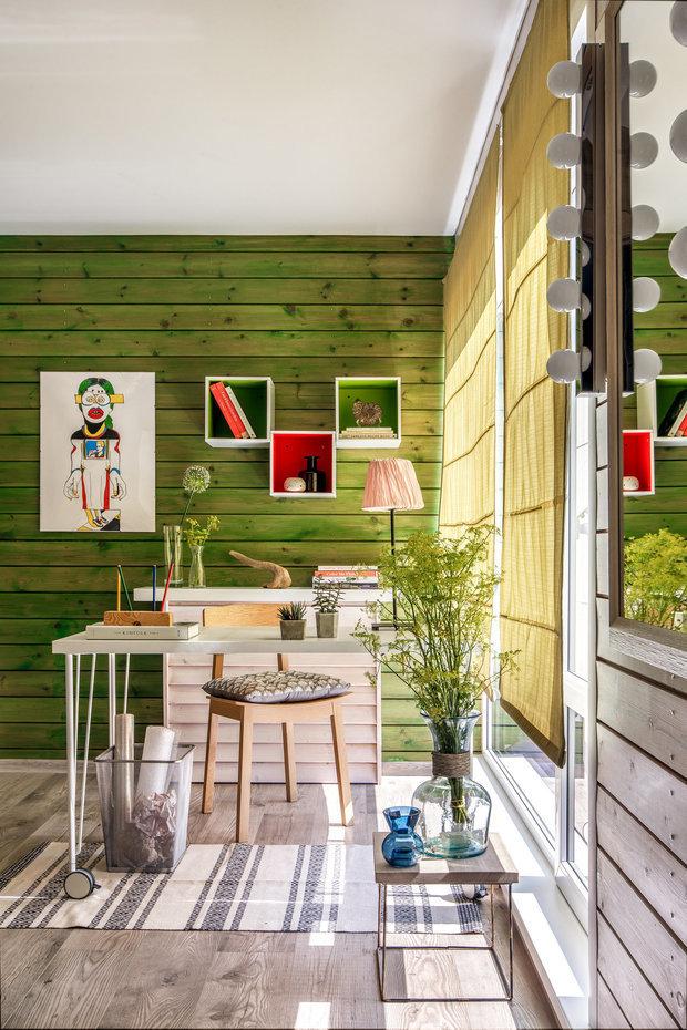 Фотография: Кабинет в стиле Скандинавский, Гид, Belinka, как покрасить дачу, дачные домики – фото на INMYROOM