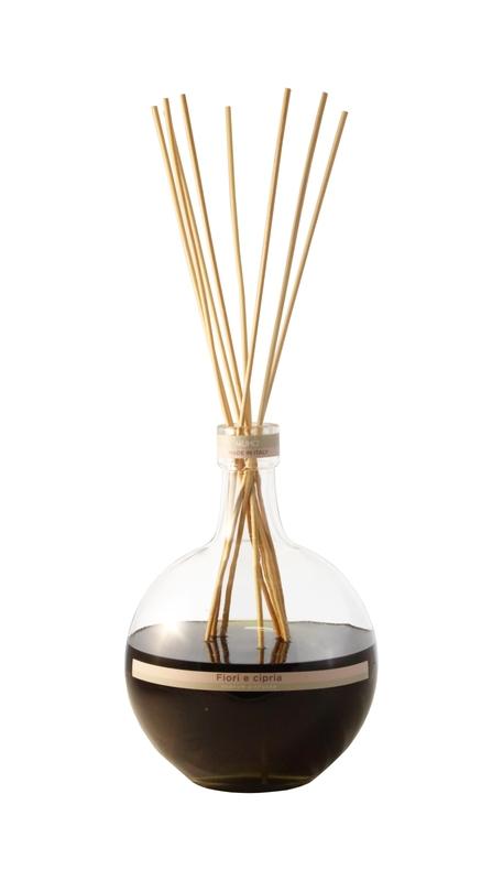 Ароматический диффузор с тростниковыми палочками цветочный шипр Muha, inmyroom, Италия  - Купить
