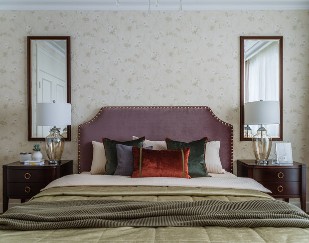 Фотография: Спальня в стиле Классический, Квартира, Проект недели, Москва, Панельный дом, 4 и больше, Более 90 метров, Наталья Широкорад, П-44Т – фото на INMYROOM