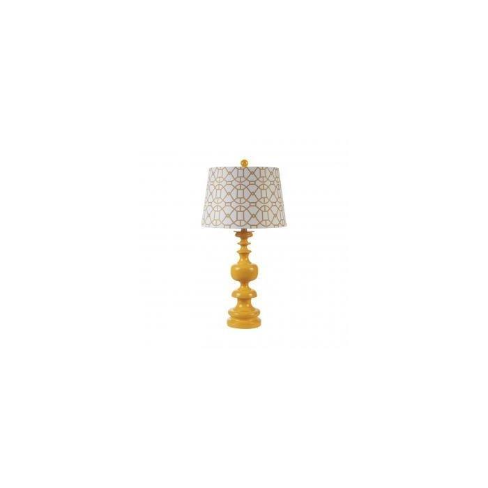 Настольная лампа RESIN WITH SHADE, YELLOW
