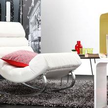 Фотография:  в стиле Современный, Декор интерьера, Квартира, Дом, Мебель и свет, Кресло-качалка – фото на InMyRoom.ru