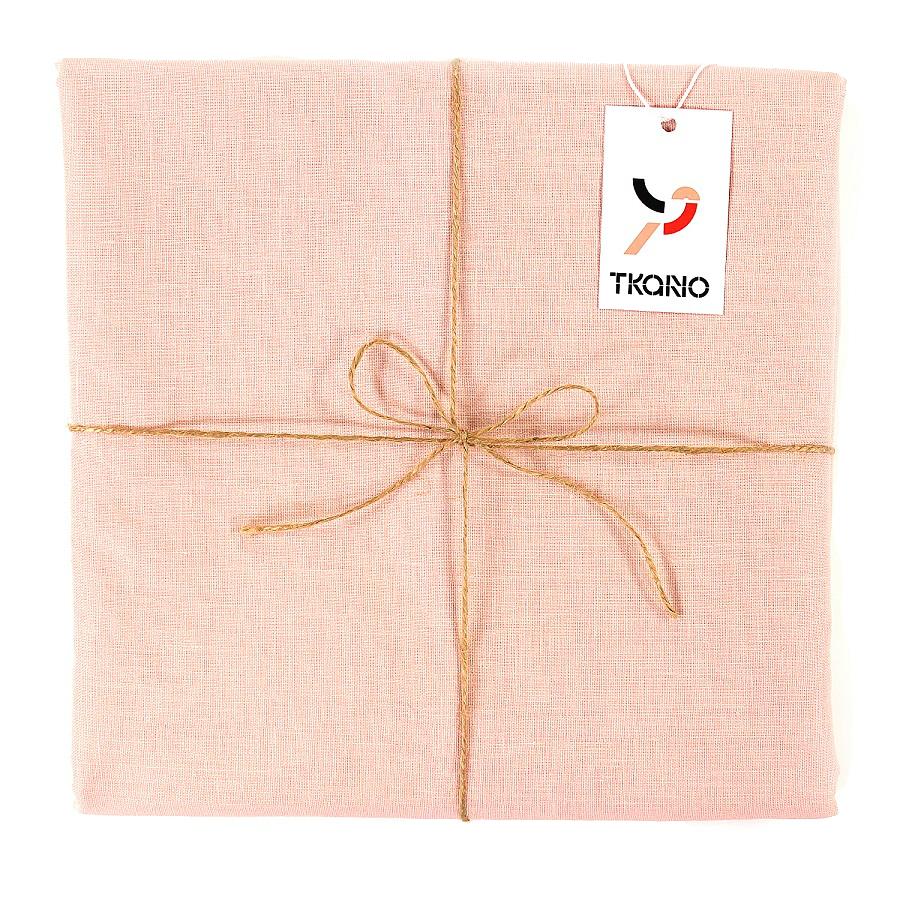Купить Скатерть на стол из умягченного льна с декоративной обработкой цвета пыльной розы, inmyroom, Россия
