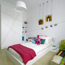 Фотография: Детская в стиле Минимализм, Декор интерьера, Декор дома, Цвет в интерьере, Обои – фото на InMyRoom.ru