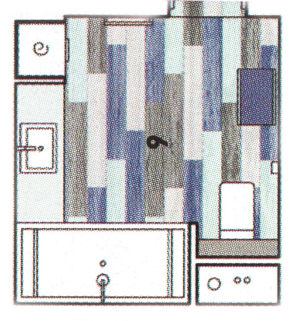 Фотография:  в стиле , Ванная, Современный, Проект недели, Черный, Москва, Синий, Серый, «Капитель», Елена Булагина, как объединить ванную и туалет, дизайн совместного санузла, санузел в синем цвете, как оформить санузел для семьи – фото на InMyRoom.ru