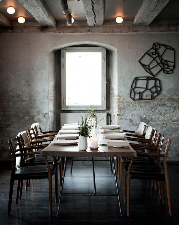 Фотография: Кухня и столовая в стиле Прованс и Кантри, Современный, Дома и квартиры, Городские места, Минимализм, Сервировка стола – фото на InMyRoom.ru