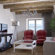 Фото из портфолио Дизайн интерьера квартиры на мансарде в Вентспилсе – фотографии дизайна интерьеров на InMyRoom.ru