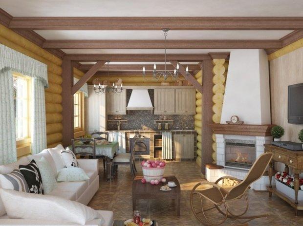 Фотография: Гостиная в стиле , Дом, Дома и квартиры, Дача – фото на InMyRoom.ru