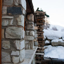 Фотография: Ландшафт в стиле Кантри, Дом, Праздник, Дома и квартиры, Новый Год, Шале, Фасад – фото на InMyRoom.ru