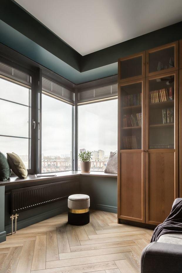 Фотография: Кабинет в стиле Современный, Квартира, Проект недели, Москва, Buro Brainstorm, 3 комнаты, 60-90 метров – фото на INMYROOM