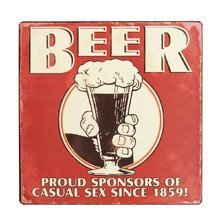 Табличка Beer