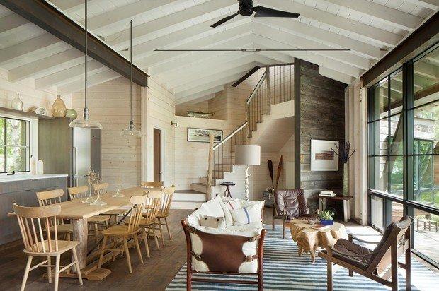 Фотография: Гостиная в стиле Эко, Декор интерьера, Дом, США, Дача, Коричневый – фото на INMYROOM