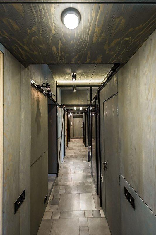 Фотография: Прихожая в стиле Современный, Хай-тек, Интерьер комнат, Переделка, Индустриальный – фото на InMyRoom.ru