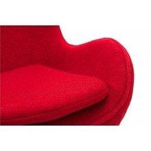 Кресло Egg Chair красного цвета
