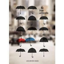 Картина (репродукция, постер): Синий Зонтик (The blue umbrella) №2