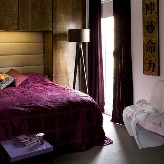 Фотография: Спальня в стиле Восточный, Эко, Интерьер комнат, Кровать, Гардероб, Комод, Пуф, Табурет – фото на InMyRoom.ru