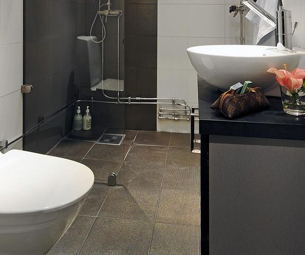 Фотография: Ванная в стиле Современный, Скандинавский, Малогабаритная квартира, Квартира, Дома и квартиры – фото на InMyRoom.ru