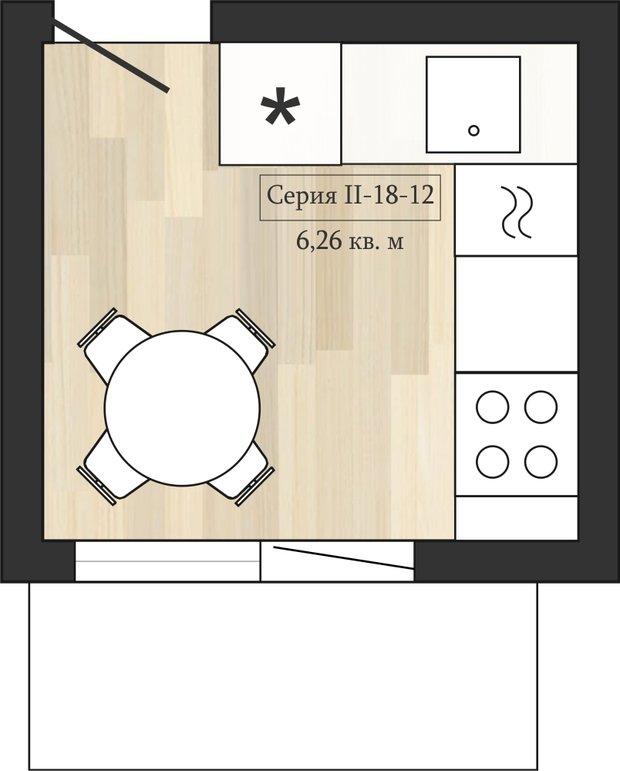 Фотография: Кухня и столовая в стиле Прованс и Кантри, Перепланировка, Анастасия Киселева, Максим Джураев, II-57, II-18-12 – фото на InMyRoom.ru