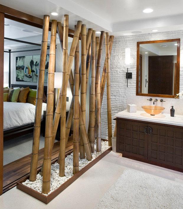 Фотография: Ванная в стиле Восточный, Советы, как зонировать студию, Марина Лаптева – фото на InMyRoom.ru
