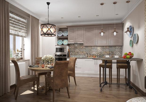 Фотография: Кухня и столовая в стиле Восточный, Эклектика,  – фото на INMYROOM