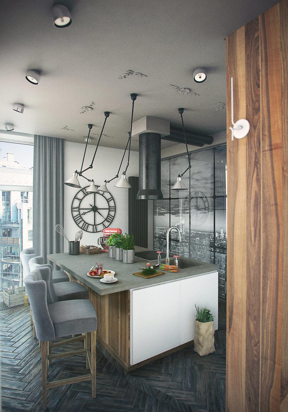Фотография: Кухня и столовая в стиле Лофт, Эклектика, Квартира, Дома и квартиры, IKEA – фото на InMyRoom.ru