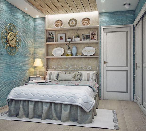 Спальня в стиле кантри фото интерьер своими руками