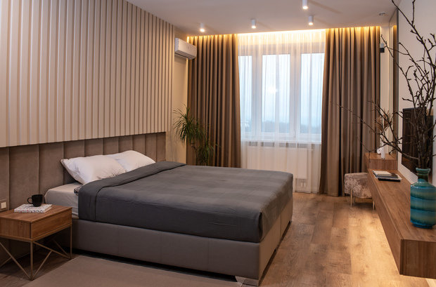 Фотография: Спальня в стиле Современный, Квартира, Проект недели, 1 комната, 2 комнаты, 40-60 метров, Брянск, Елена Кулешова – фото на INMYROOM