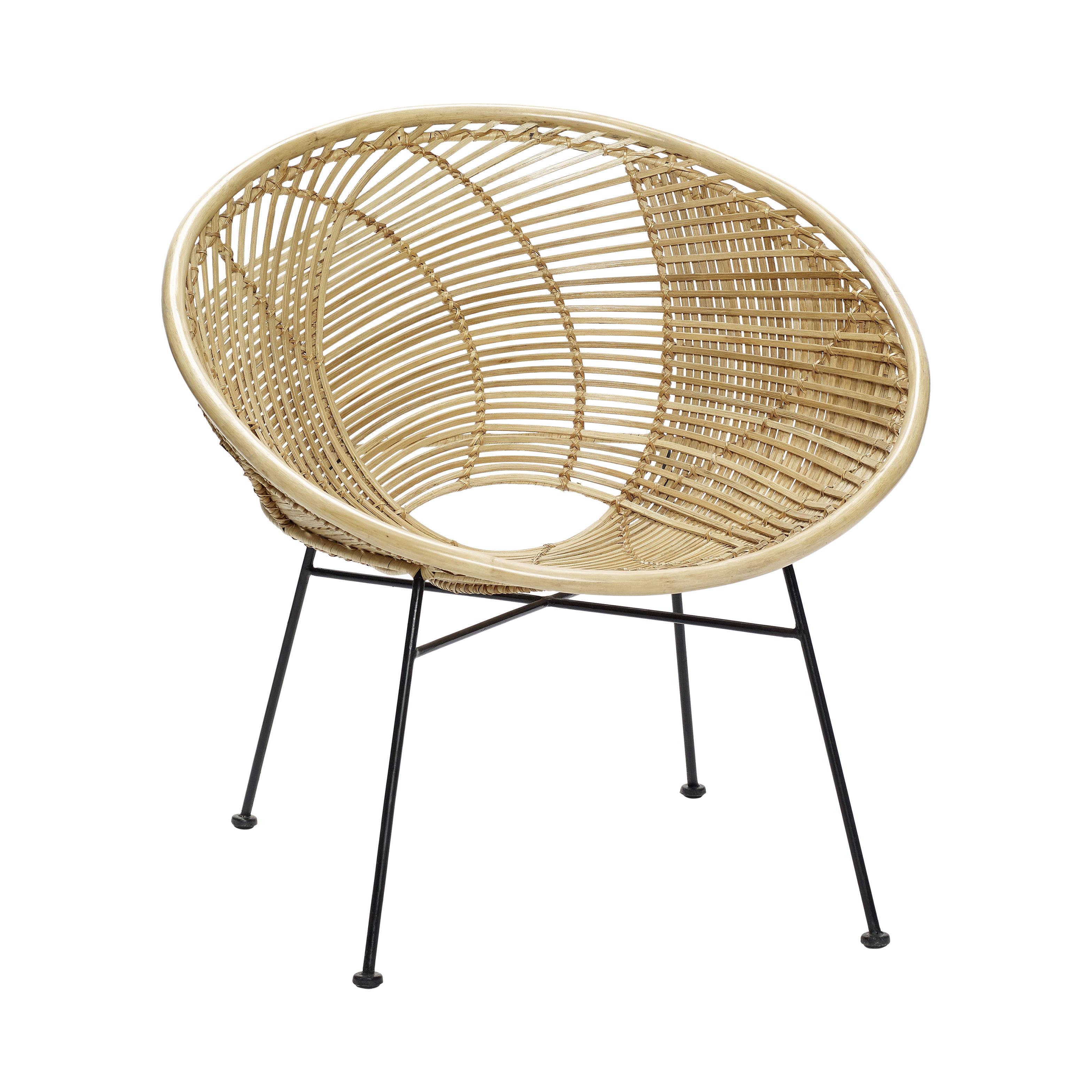 Плетенное кресло из ротанга