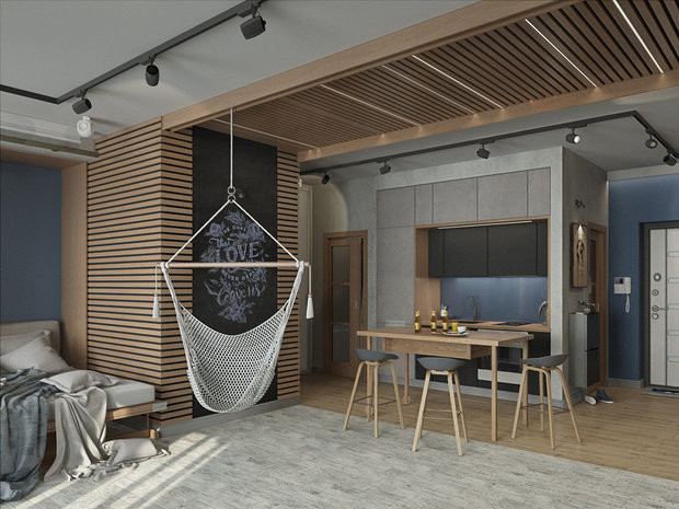 Фотография: Гостиная в стиле Лофт, Гид, Мегафон, Мегафон ТВ, чилаут, чилаут-зона – фото на INMYROOM