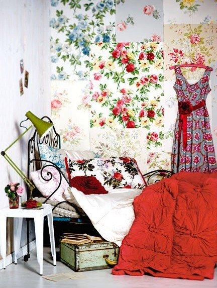 Фотография: Спальня в стиле Прованс и Кантри, Декор интерьера, Текстиль, Декор, Декор дома, Пэчворк – фото на InMyRoom.ru