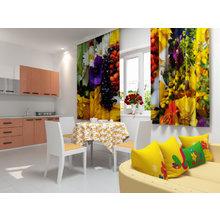 Кухонная скатерть: Оранжевые ромашки