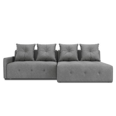 Угловой диван-кровать Bronks серого цвета — купить по цене 63500 руб в Москве | фото, описание, отзывы, артикул IMR-1124052 | Интернет-магазин INMYROOM