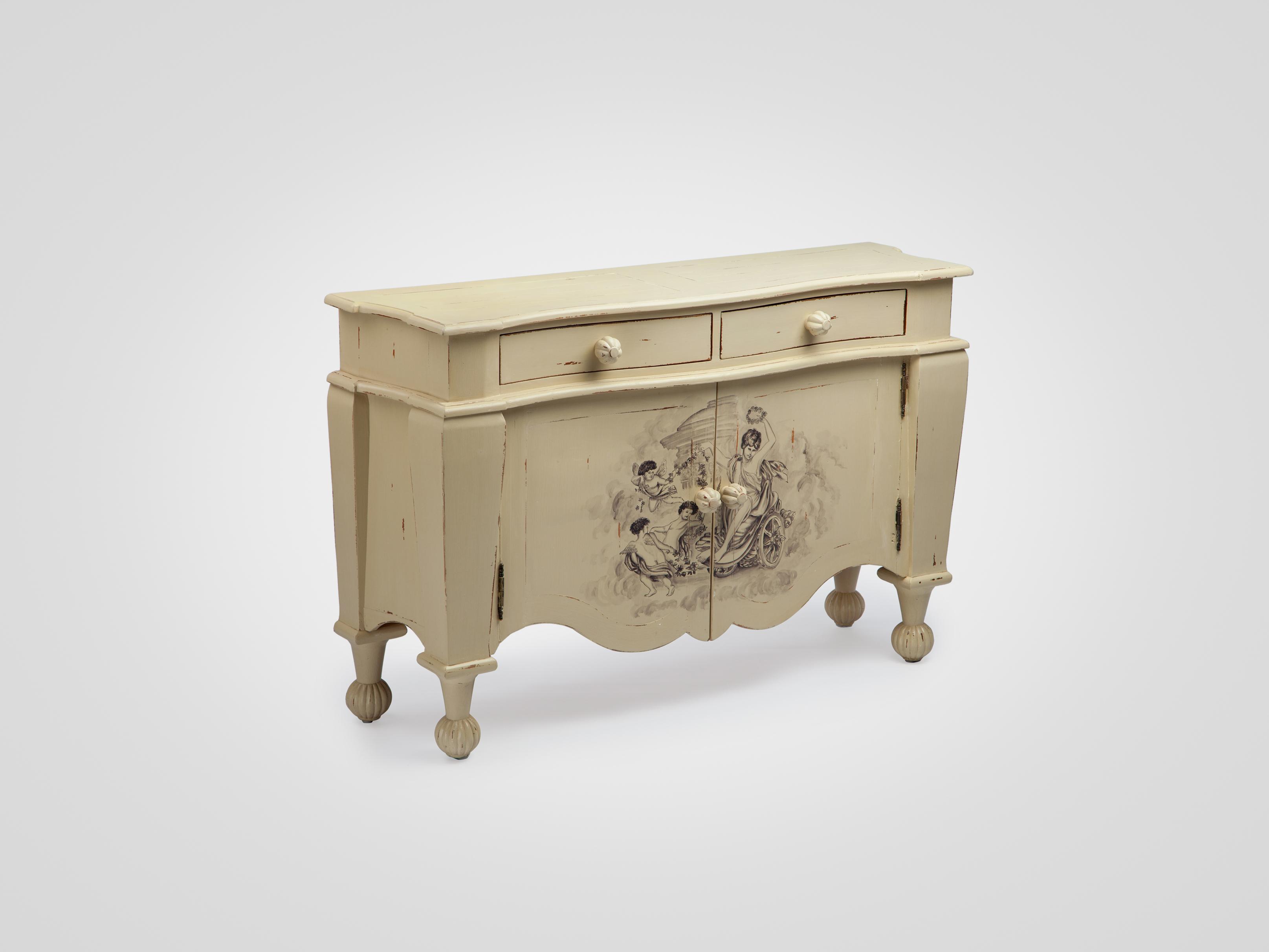 Буфет украшенный росписью ручной работы 141х90х40 см