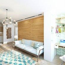 Фото из портфолио Дизайн гостиной-кухни, проспект Маршала Рокоссовского – фотографии дизайна интерьеров на INMYROOM
