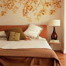 Фотография: Спальня в стиле Кантри, Классический, Современный, Декор интерьера, DIY, Дом, Цвет в интерьере, Оранжевый – фото на InMyRoom.ru