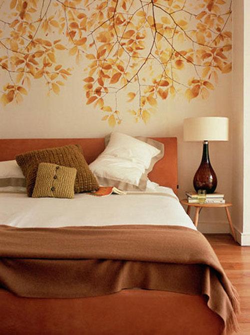 Фотография: Спальня в стиле Прованс и Кантри, Классический, Современный, Декор интерьера, DIY, Дом, Цвет в интерьере, Оранжевый – фото на InMyRoom.ru
