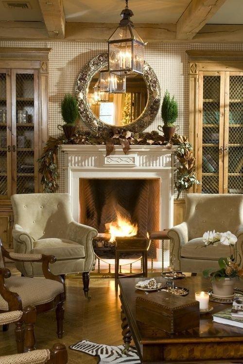 Фотография: Гостиная в стиле Прованс и Кантри, Квартира, Дома и квартиры – фото на InMyRoom.ru