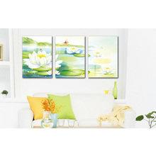 Декоративная картина на холсте: Белая кувшинка