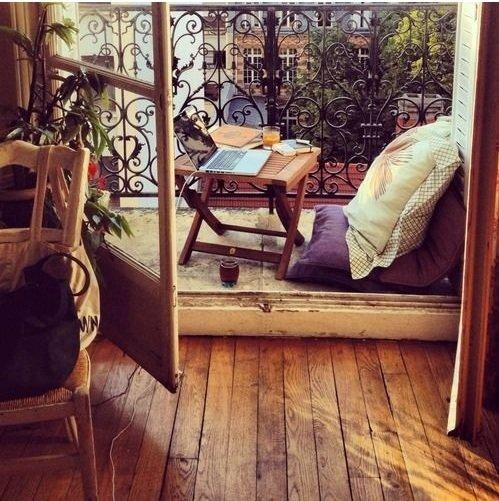 Фотография: Балкон, Терраса в стиле Прованс и Кантри, Декор интерьера, Малогабаритная квартира, Квартира, Дома и квартиры – фото на InMyRoom.ru