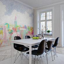 Фотография: Кухня и столовая в стиле Скандинавский, Советы, фотообои в интерьере – фото на InMyRoom.ru