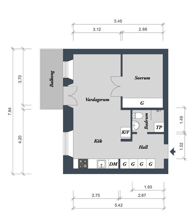 Фотография:  в стиле , Скандинавский, Эклектика, Малогабаритная квартира, Квартира – фото на InMyRoom.ru