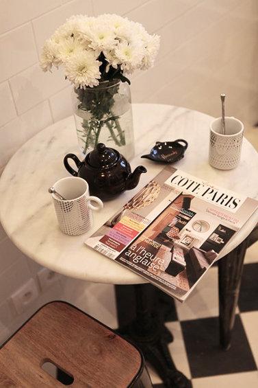 Фотография: Спальня в стиле Прованс и Кантри, Малогабаритная квартира, Квартира, Дома и квартиры, Переделка, Париж – фото на InMyRoom.ru