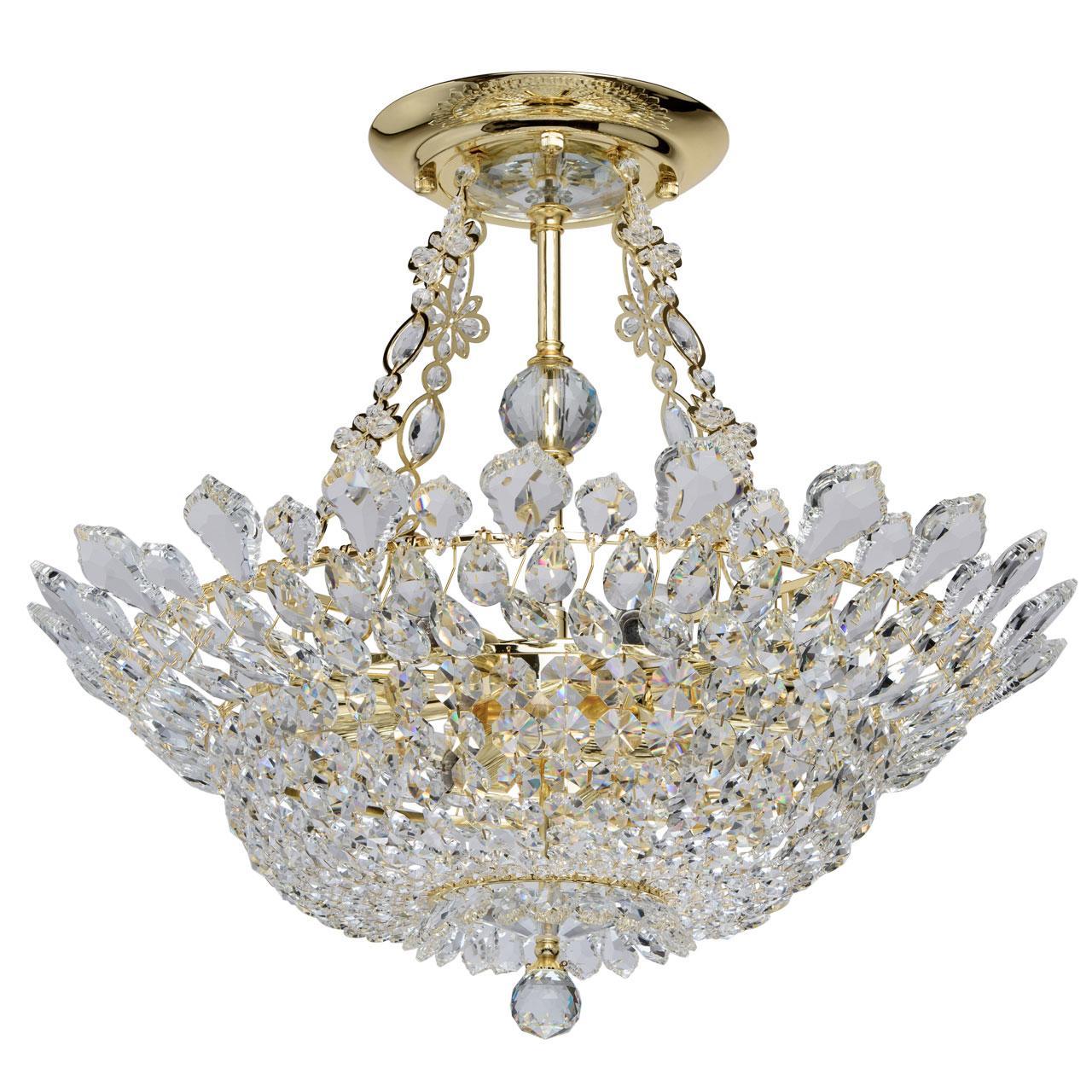 Купить со скидкой Потолочный светильник mw-Light патриция с плафоном из хрусталя