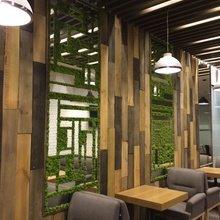 Фото из портфолио Витражи и стены из стабилизированного мха – фотографии дизайна интерьеров на INMYROOM