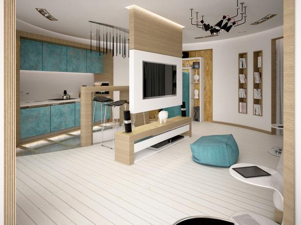 Фотография: Гостиная в стиле Лофт, Современный, Гид – фото на InMyRoom.ru