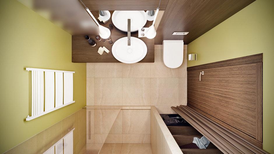 Фотография: Ванная в стиле Современный, Квартира, Проект недели, Co:Interior, 1 комната, 40-60 метров, Монолитно-кирпичный, ЖК «Новое Тушино» – фото на InMyRoom.ru