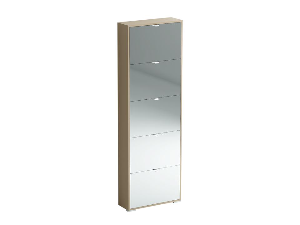 Шкаф для обуви Reggy с зеркальным фасадом