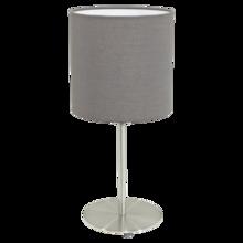 Настольная лампа Pasteri с абажуром серого цвета