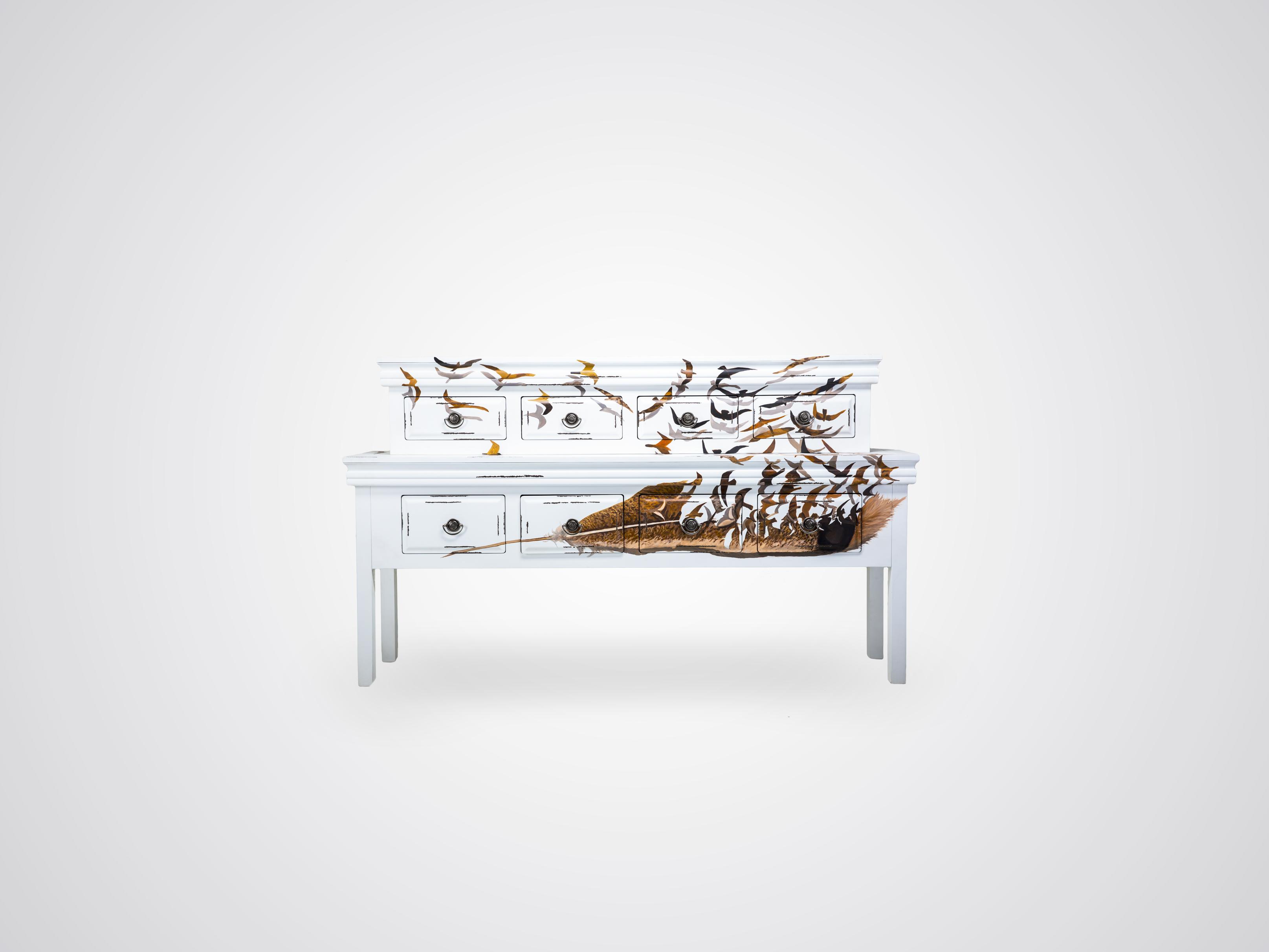 Купить Консоль-буфет «перо» из дерева махагони 191х111х40 см, inmyroom, Россия